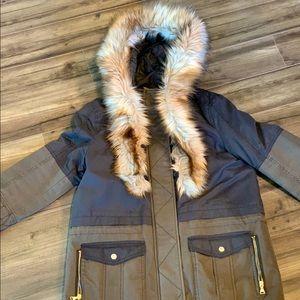 Women's Express Anorak Fur Hood Jacket M